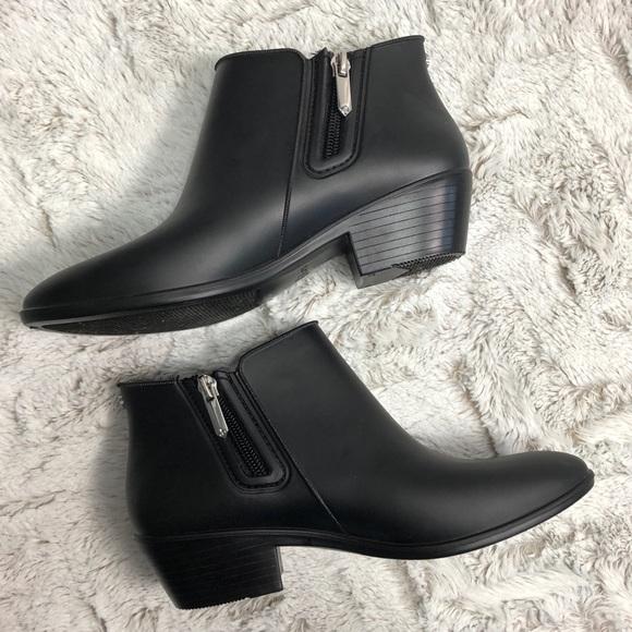 8509fe97b Sam Edelman Petty Rain Boot Booties Black 5